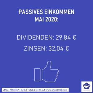 Passives Einkommen Mai 2020