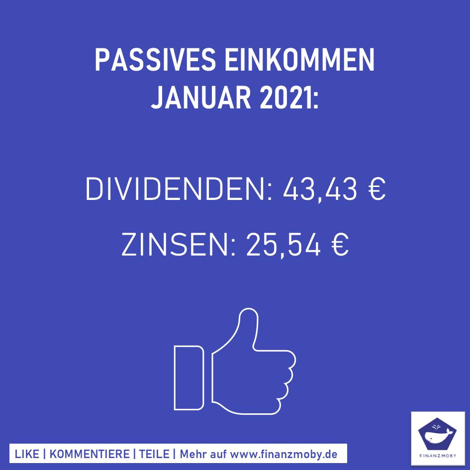 Passives Einkommen Januar 2021